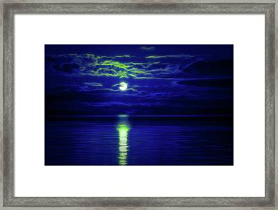 Glow In The Dark Amazing Sunset  Framed Print
