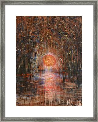 Framed Print featuring the painting Glow In The Dark by Nik Helbig