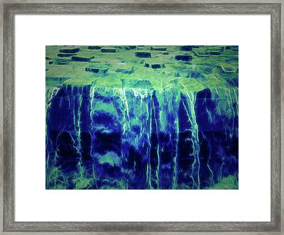 Glow In The Dark Waterfall Abstract Framed Print