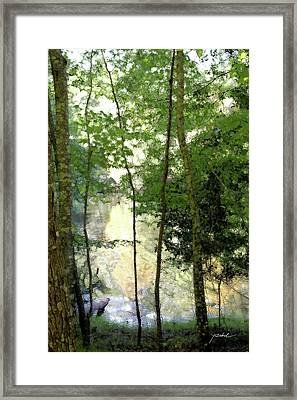 Glow Of Silence Framed Print by Isartdesign By Isabella Schnittger
