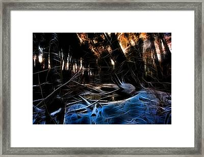 Glow River Framed Print