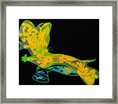 Glow Stick Framed Print
