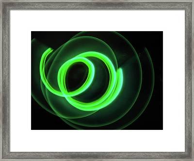 Glow Stick Motion Framed Print by Denise Keegan Frawley