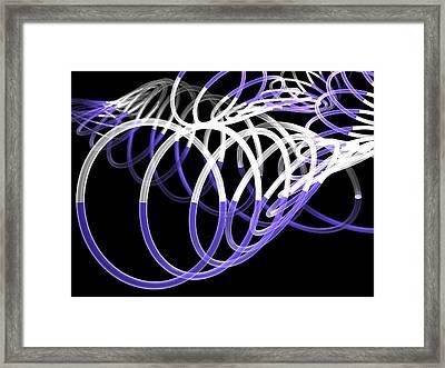 Glow Stix Framed Print