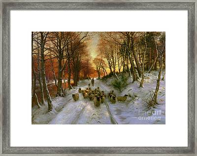 Glowed With Tints Of Evening Hours Framed Print