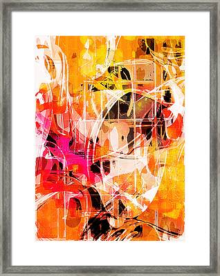 Glowing Abstract  Framed Print by Tom Gowanlock