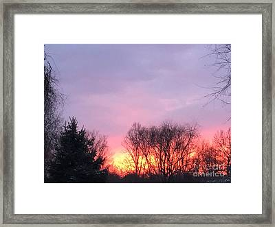 Glowing Almost Gone Framed Print