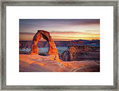 Glowing Arch Framed Print by Mark Brodkin Photography