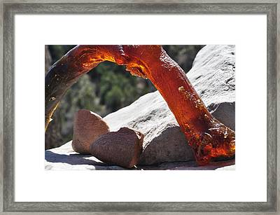 Glowing Arch Framed Print by Thor Sigstedt