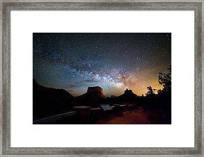 Glowing Bell Rock Framed Print by Cody Payne