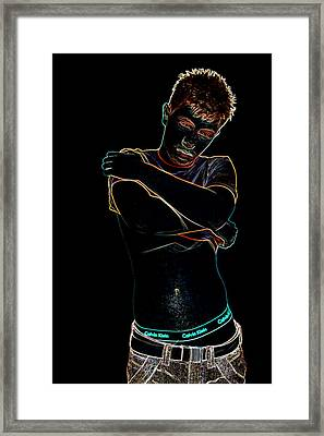 Glowing Boy Framed Print by John Dorlin-Wagstaff