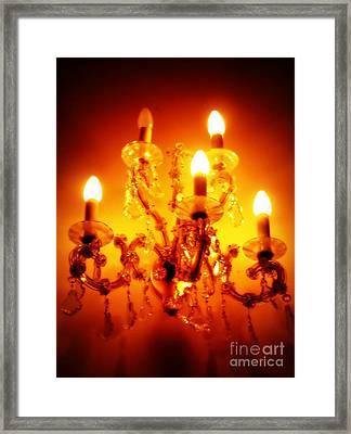 Glowing Chandelier Framed Print by Carol Groenen