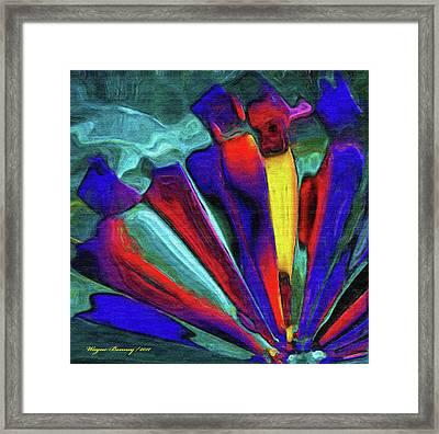 Glowing Chrystals Framed Print by Wayne Bonney