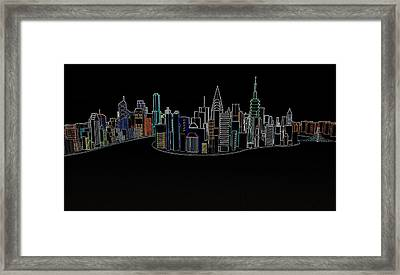 Glowing City Framed Print