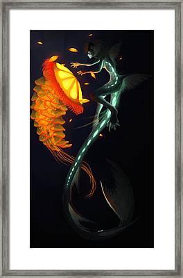 Glowing Depths Framed Print by Nicki Lagaly