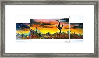 Glowing Desert #2 Framed Print by Bryan Benson