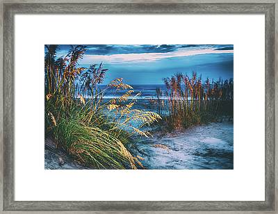 Framed Print featuring the photograph Glowing Dunes Before Sunrise On The Outer Banks by Dan Carmichael