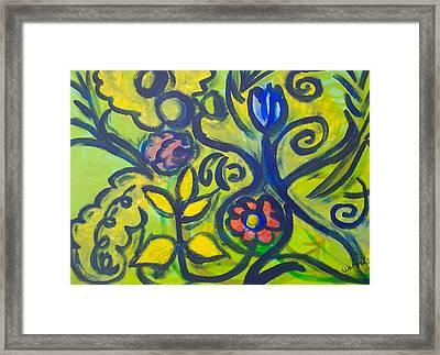 Glowing Garden Framed Print by Rebecca Merola