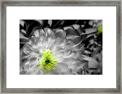 Glowing Heart Framed Print