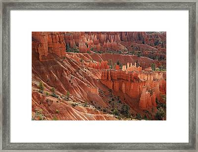 Framed Print featuring the photograph Glowing Hoodoos by Donna Kennedy