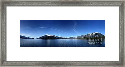 Framed Print featuring the photograph Glowing In The Blue by Victor K