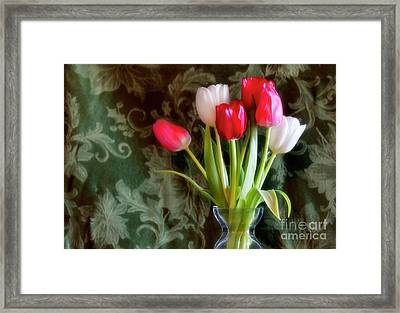 Glowing Framed Print by Joan Bertucci
