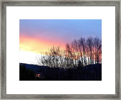 Framed Print featuring the photograph Glowing Kalamalka Lake by Will Borden