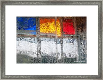 Glowing Lace Framed Print by Christopher Holmes