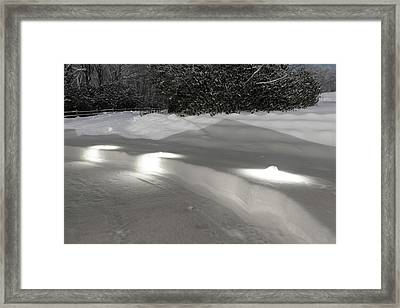Glowing Landscape Lighting Framed Print