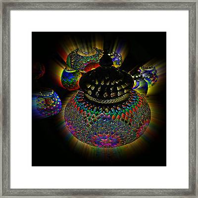 Glowing Lanterns Framed Print