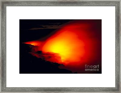 Glowing Lava Flow Framed Print by William Waterfall - Printscapes