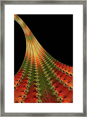 Glowing Leaf Of Autumn Abstract Framed Print
