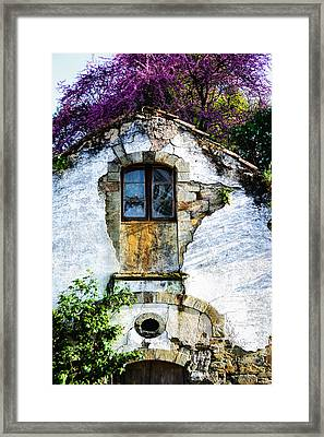 Framed Print featuring the photograph Glowing Old Window In Portugal by Marion McCristall