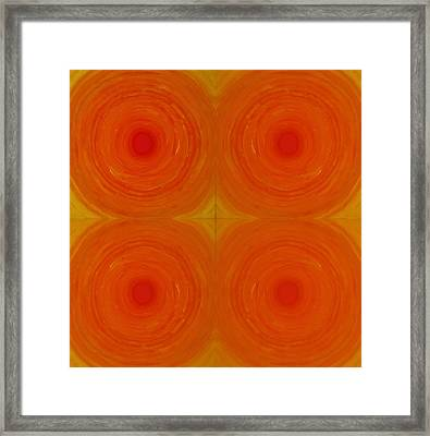 Glowing Orange Framed Print by Christopher Rowlands