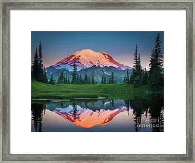 Glowing Peak - August Framed Print