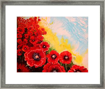 Glowing Poppies I Framed Print