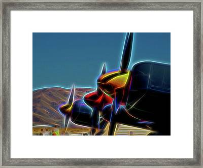 Glowing Props Framed Print