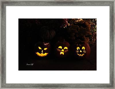 Glowing Pumpkins Framed Print by Suzanne Gaff