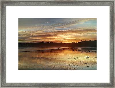 Long Beach I, British Columbia Framed Print