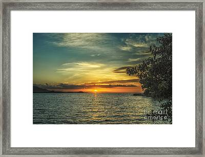 Glowing Sky Framed Print by Michelle Meenawong
