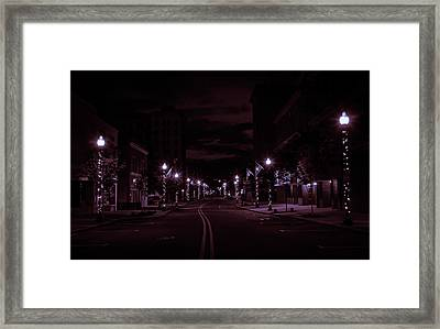 Glowing Streets Downtown Framed Print