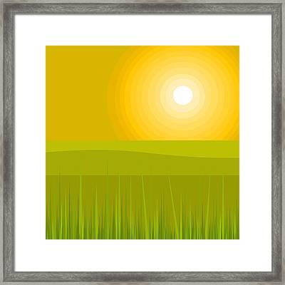 Glowing Sunshine Framed Print