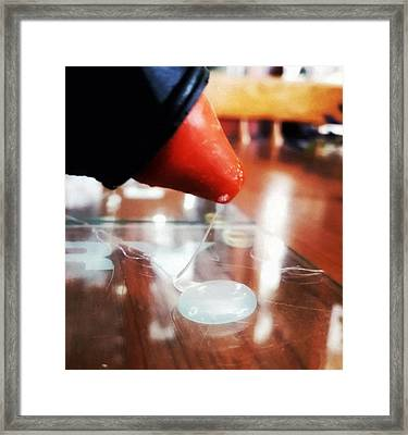 Glue Gun Action Framed Print