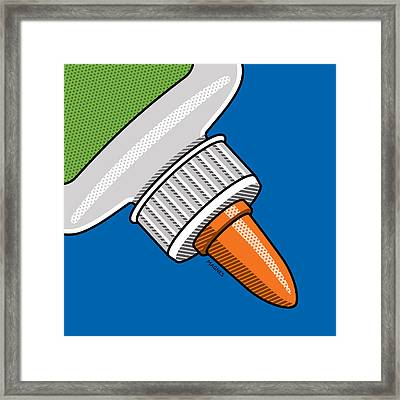 Framed Print featuring the digital art Glue Bottle by Ron Magnes