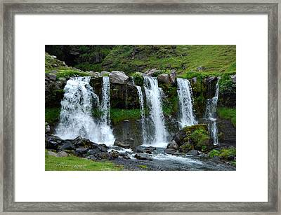Framed Print featuring the photograph Gluggafoss II by Marilynne Bull