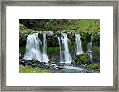 Framed Print featuring the photograph Gluggafoss by Marilynne Bull