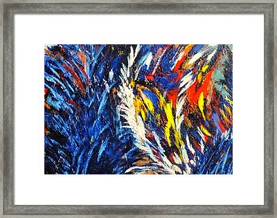 Gluons In Love Framed Print by Charles Munn