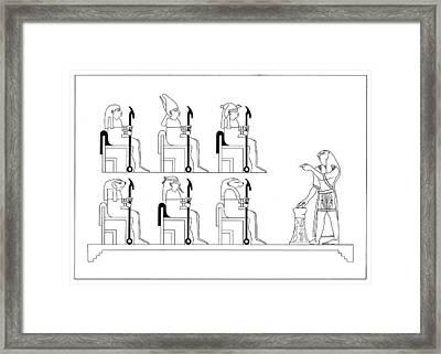 Glyph Class Framed Print by Stan  Magnan