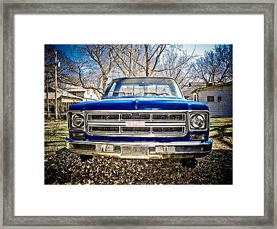 Gmc Pickup Framed Print by Craig Perry-Ollila