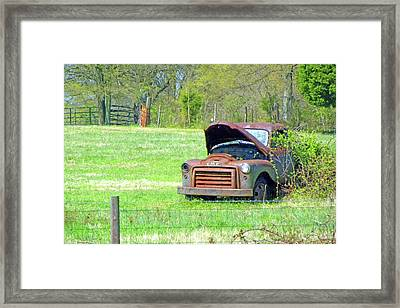 Framed Print featuring the photograph Gmc Retired by Larry Bishop